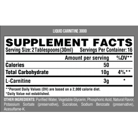 Liquid Carnitine 3000, Carnitina líquida (480 ml)