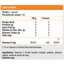 Vitamina E 400 UI (100 soft)