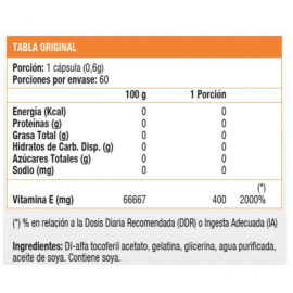 Vitamina E DL 400 UI (60 soft)